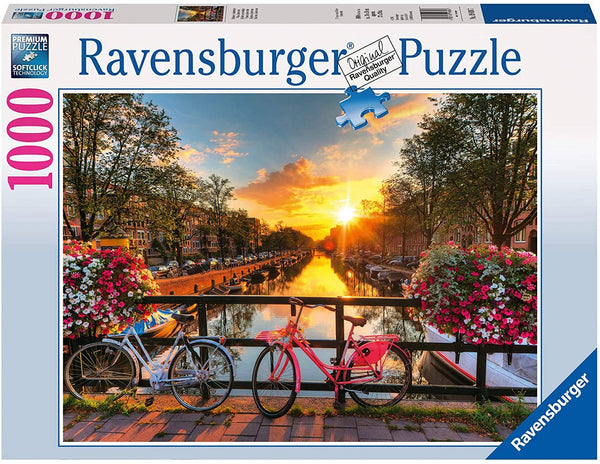 Ravensburger 19606: Bicycles in Amsterdam (1000 Piece Jigsaw Puzzle)-Kidding Around NYC