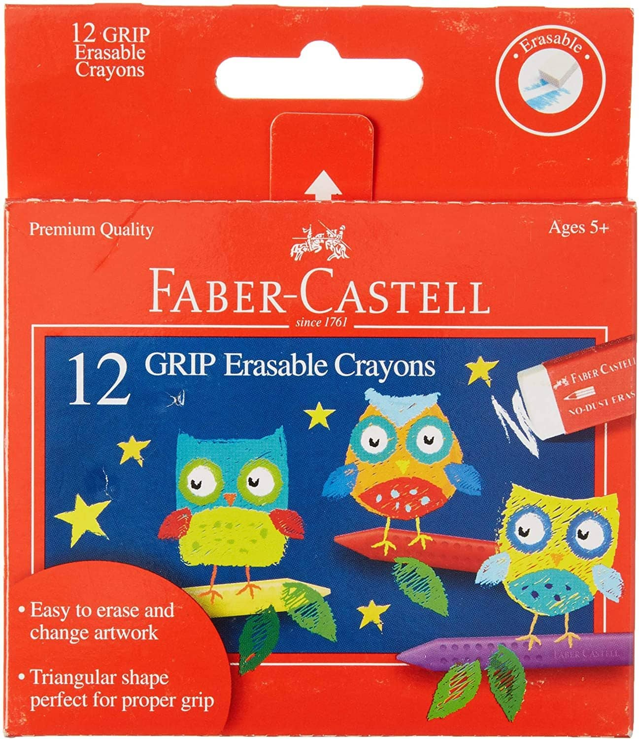 12 Grip Erasable Crayons-Kidding Around NYC