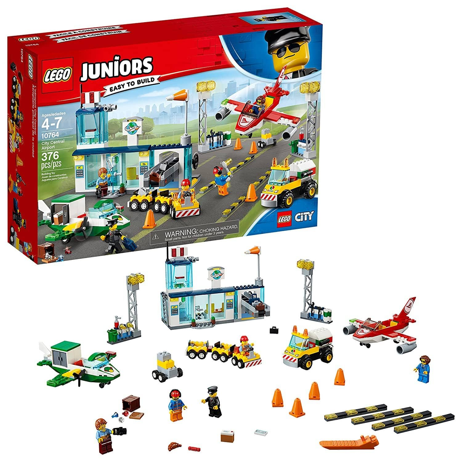 LEGO 10764: Juniors: City Central Airport (376 Pieces)-Kidding Around NYC