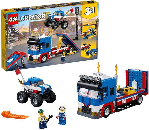 Lego Creator 3In1 Mobile Stunt Show 31085 Building Kit (580 Piece)-Kidding Around NYC