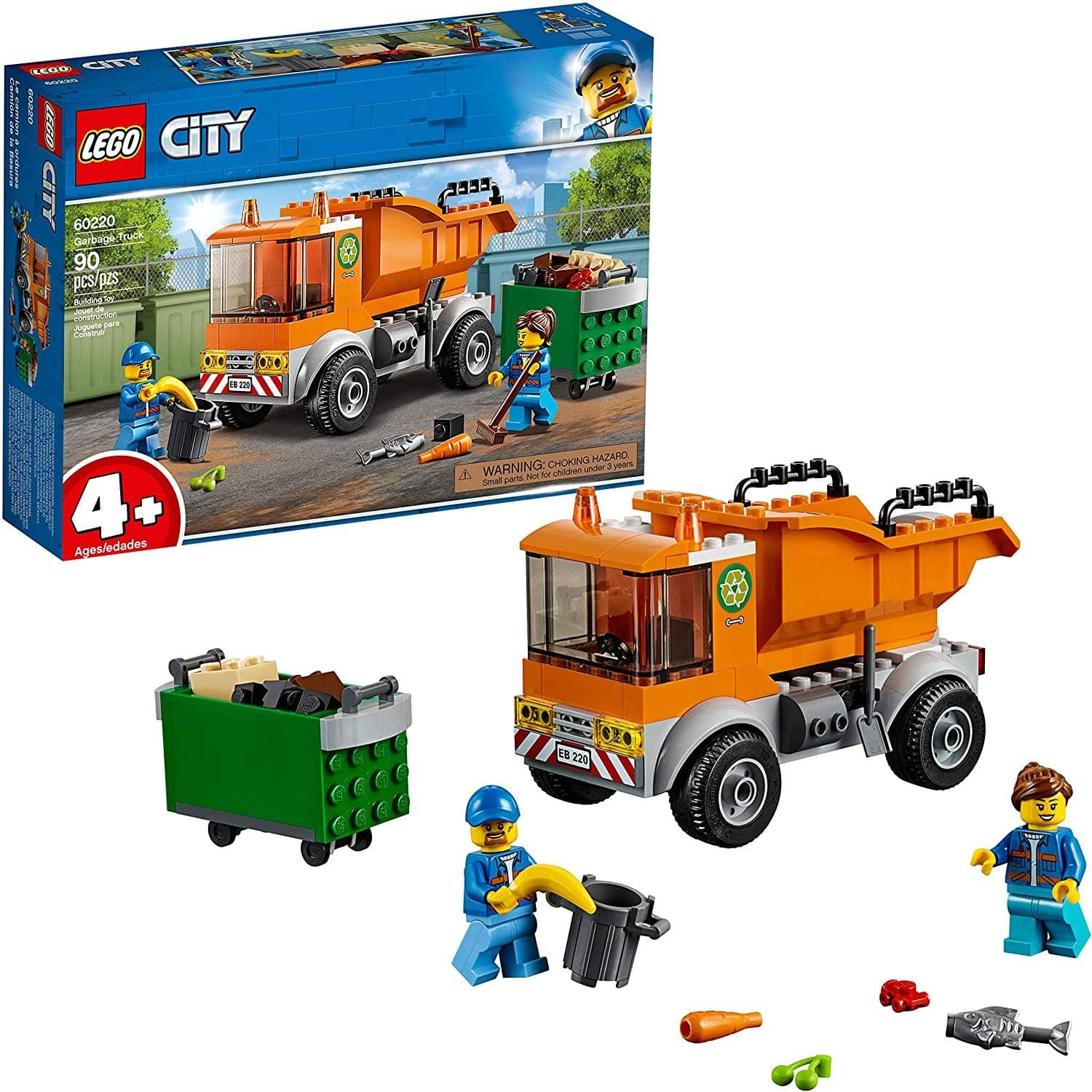 LEGO 60220: City: Garbage Truck (90 Pieces)-Kidding Around NYC