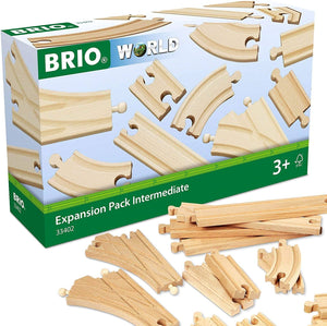Brio World 33402 Expansion Pack Intermediate | Wooden Train Tracks For Kids Age 3 And Up-Kidding Around NYC