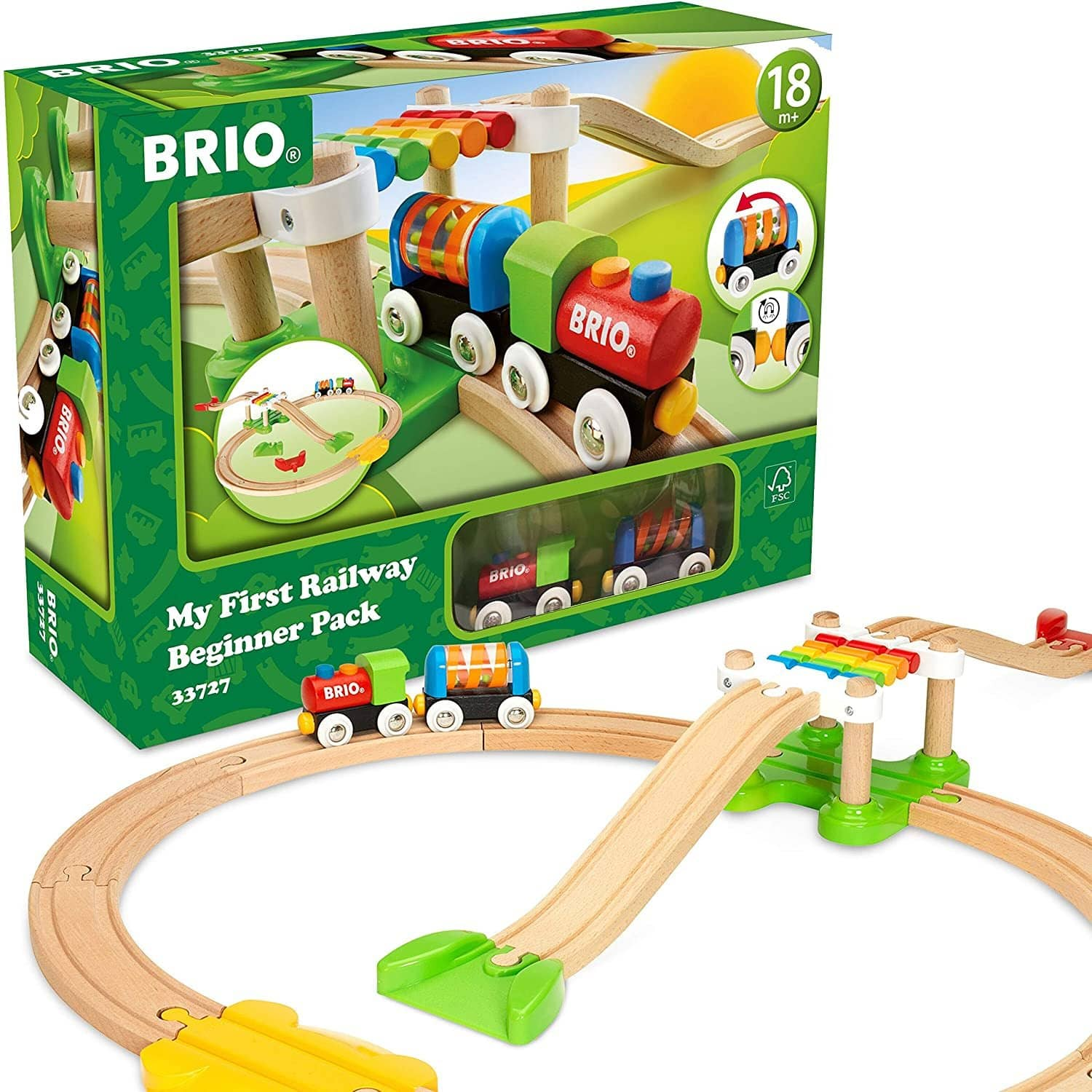 Brio My First Railway – 33727 Beginner Pack | Wooden Toy Train Set For Kids Age 18 Months And Up-Kidding Around NYC