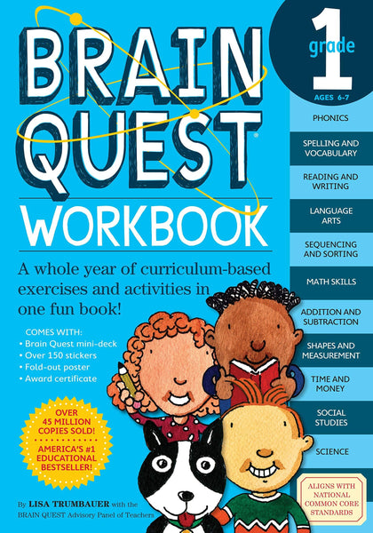 Brain Quest Workbook Grade 1 (Paperbook)-Kidding Around NYC
