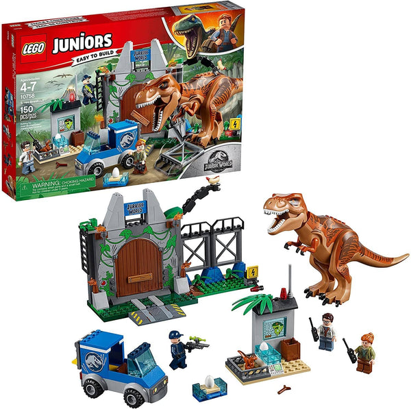 LEGO 10758: Juniors: Jurassic World: T. Rex Breakout (150 Pieces)-Kidding Around NYC