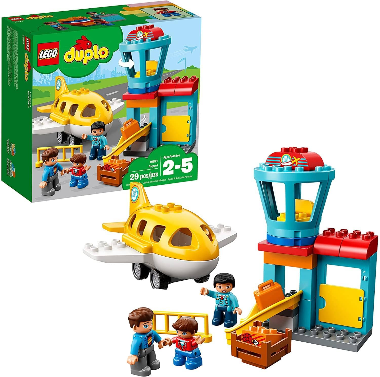 LEGO 10871: DUPLO: Airport (29 Pieces)-Kidding Around NYC