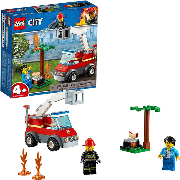 Lego City Barbecue Burn Out 60212 Building Kit (64 Pieces)-Kidding Around NYC