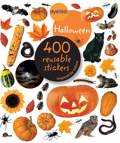 Halloween Sticker Book With 400 Reusable Stickers-Kidding Around NYC