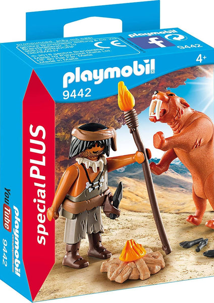 Caveman with Sabertooth Tiger (9442)