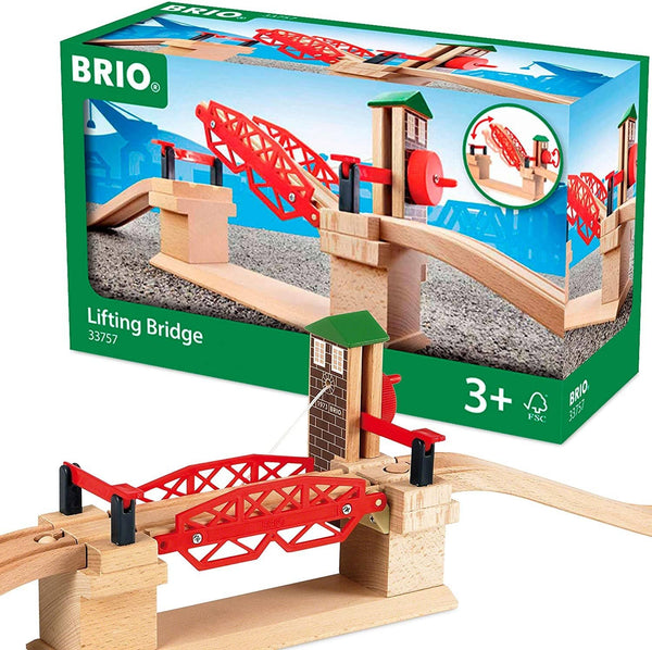 BRIO 33757 Lifting Bridge | Toy Train Accessory with Wooden Track for Kids Age 3 and Up