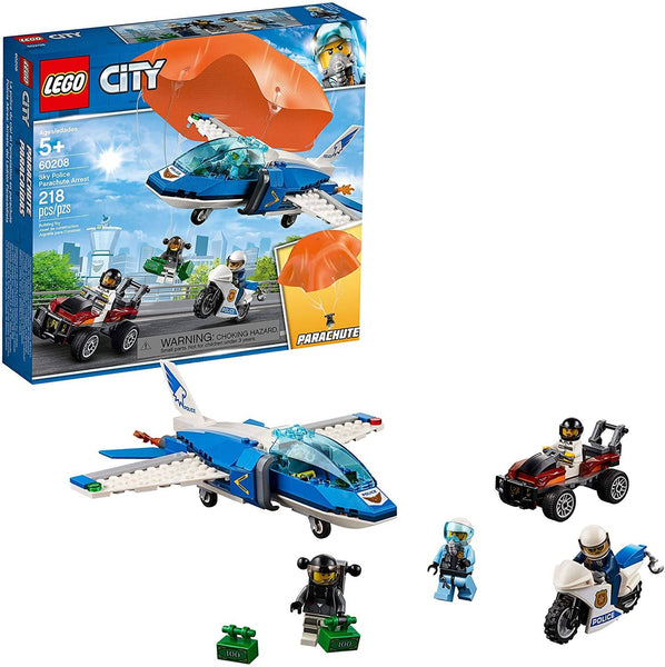 LEGO 60208: City: Sky Police Parachute Arrest (218 Pieces)-Kidding Around NYC