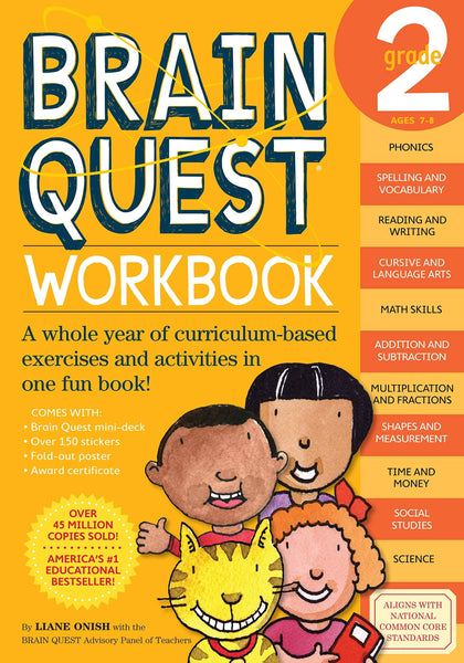 Brain Quest Workook Grade 2 (Paperback)-Kidding Around NYC