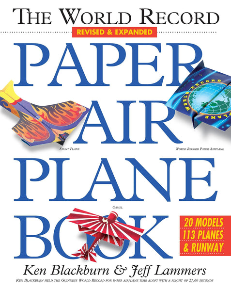 World Record Paper Airplane Book (Paperback)-Kidding Around NYC