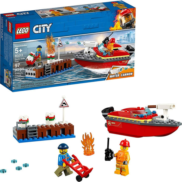 LEGO City Dock Side Fire 60213 Building Kit (97 Pieces)