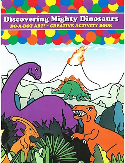 Do A Dot Art:Dinosaur Book Coloring Book-Kidding Around NYC
