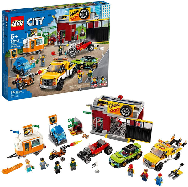 LEGO 60258: City: Tuning Workshop (897 Pieces)-Kidding Around NYC
