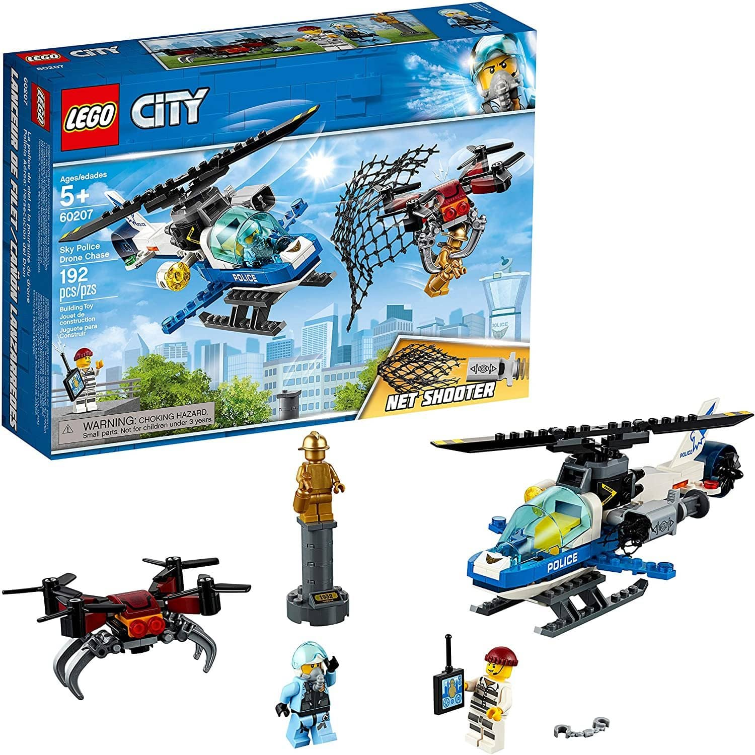 Lego City Sky Police Drone Chase 60207 Building Kit (192 Pieces)-Kidding Around NYC