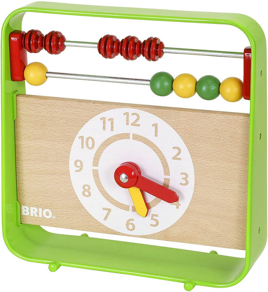 Brio 30447 Abacus With Clock | Fun Preschool Toy For Kids Ages 3 And Up
