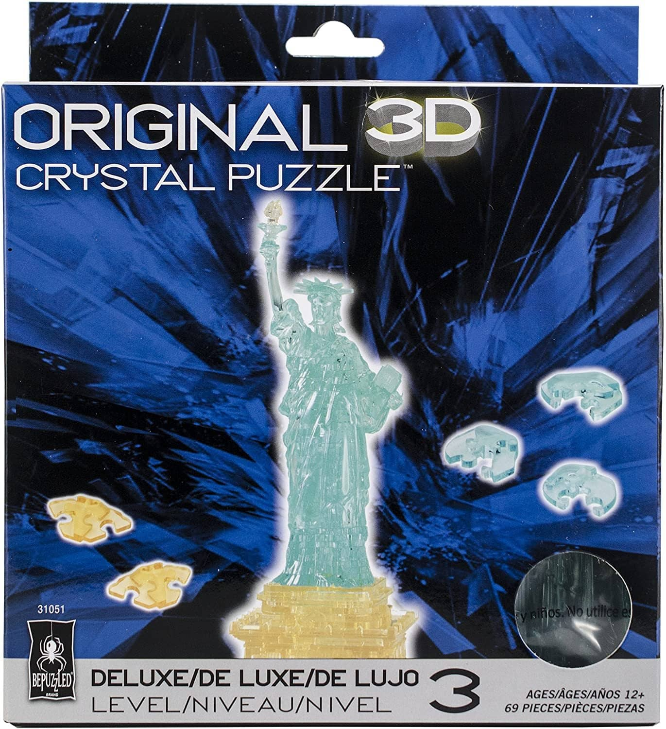 Statue Of Liberty 3D Crystal Puzzle-Kidding Around NYC