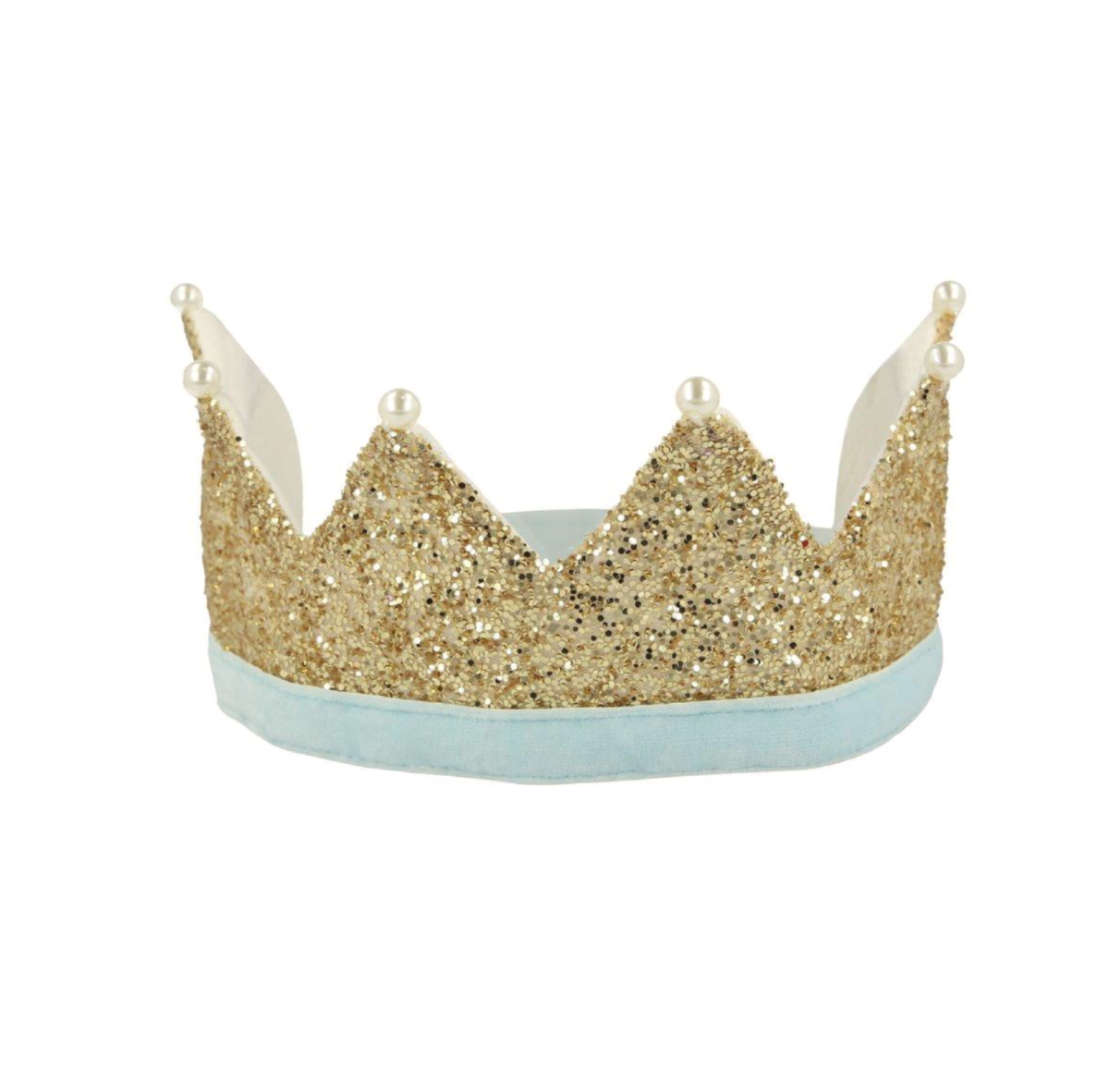 Gold & Pearl Party Crown