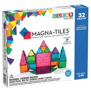 Magna Tiles Clear Colors 32Pc Set