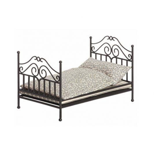 Anthracite Micro Vintage Metal Bed