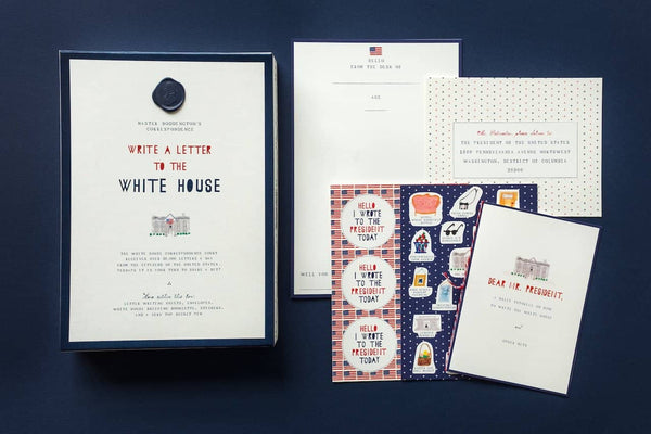 White House Letter Writing Set-Kidding Around NYC