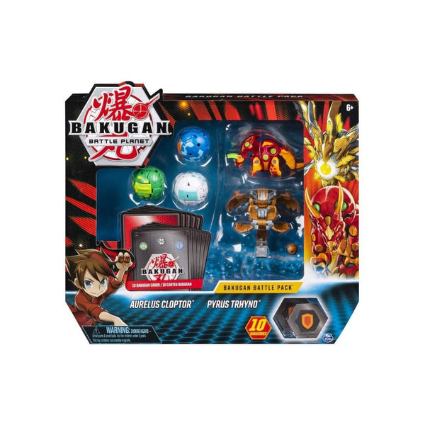Aurelus Cloptor Pyrus Tryno Bakugan Battle Pack-Kidding Around NYC