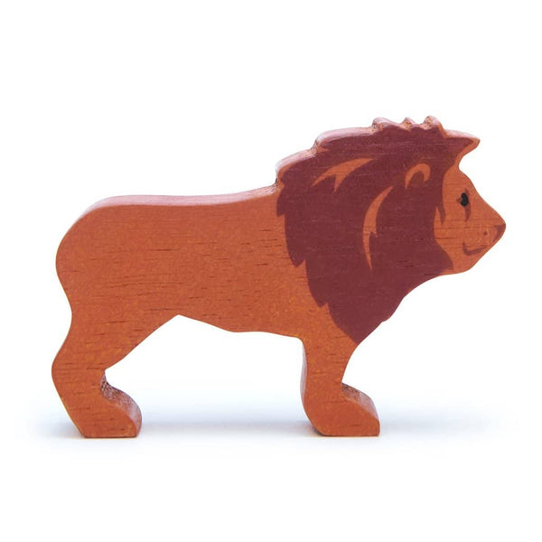 Lion Wooden Figure
