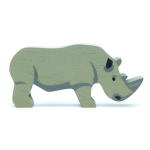Rhinoceros Wooden Figure