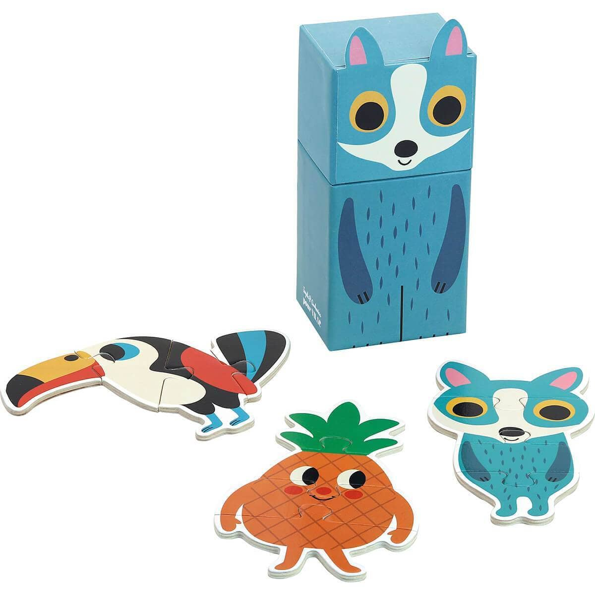 Mini Wooden Puzzles Racoon Box-Kidding Around NYC