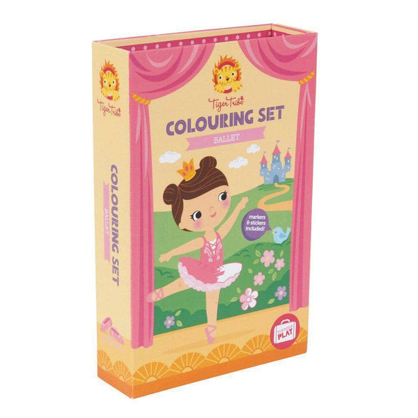 Tiger Tribe Ballerina Coloring Set-Kidding Around NYC