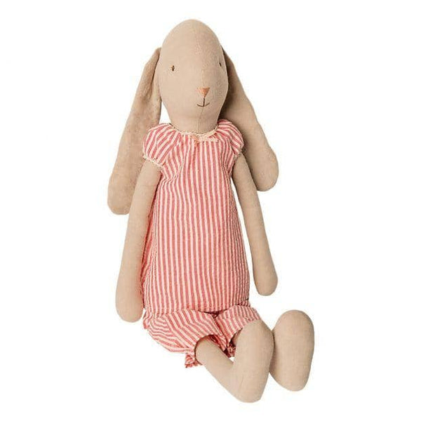 Girl Bunny In Striped Pajamas