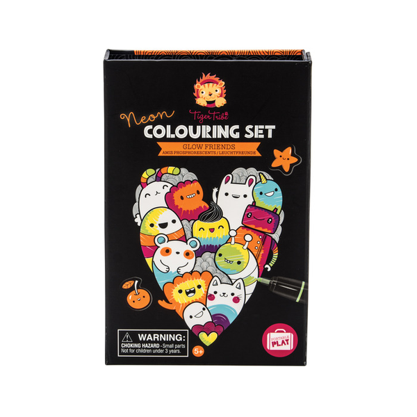 Neon Glow Friends Coloring Set-Kidding Around NYC