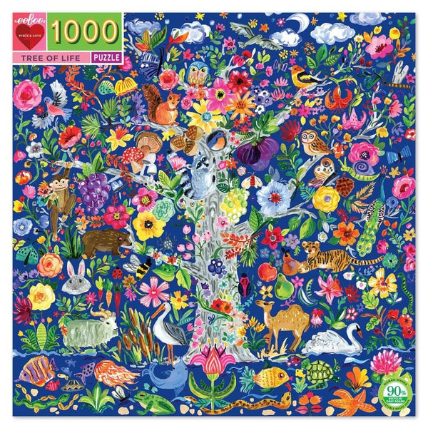 Eeboo 1000 Piece Tree of Life Puzzle