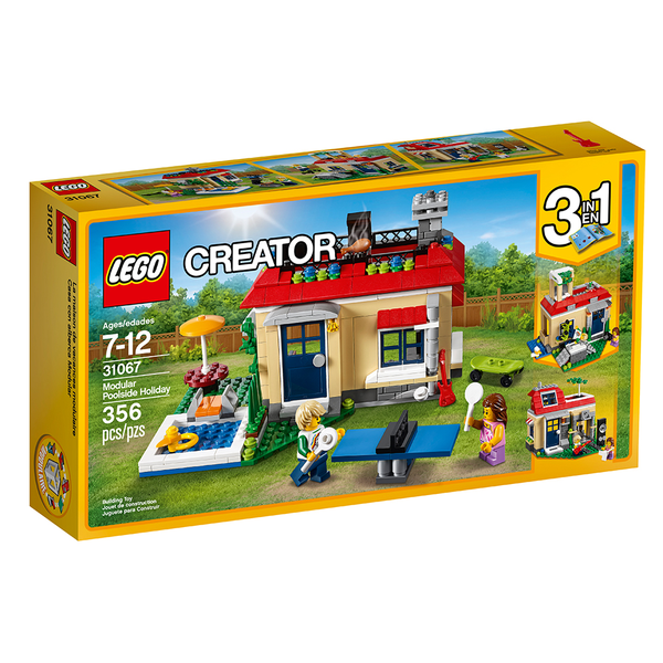 LEGO 31067: Creator: 3-in-1 Modular Poolside Holiday (356 Pieces)-Kidding Around NYC