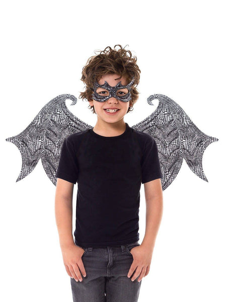 Dragon Wings/Mask Set Black Ages 3+