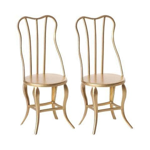 Gold Micro Vintage Chairs (2Pc)-Kidding Around NYC