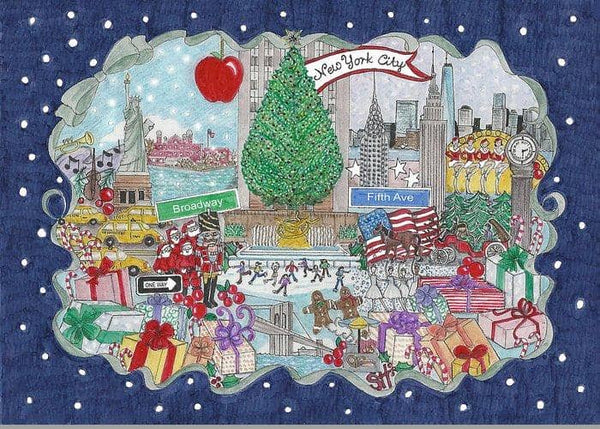 New York City Holiday Greeting Cards-Single