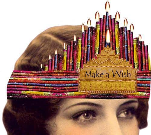 Make A Wish Candle Tiara and Birthday Card