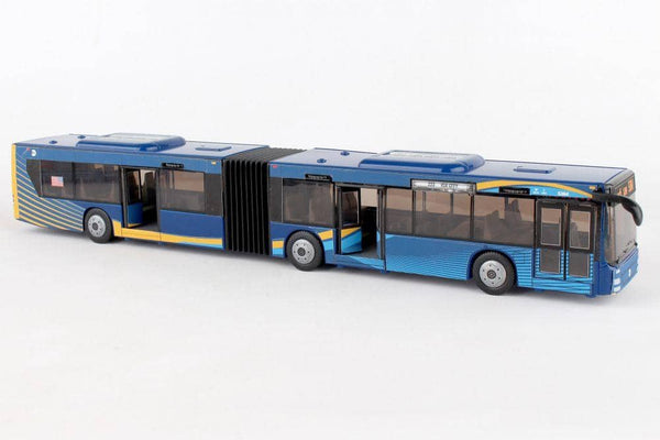 Blue Nyc Articulated Bus