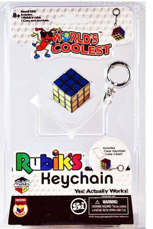 Worlds Smallest Rubiks Cube Keyring-Kidding Around NYC