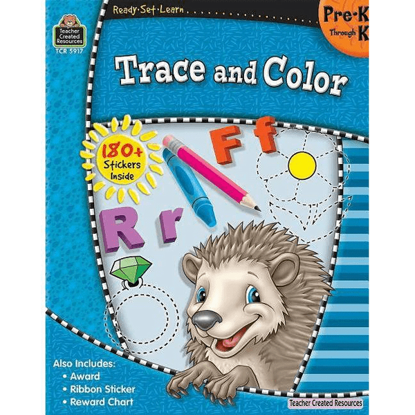 Ready-Set-Learn: Trace And Color Pre-K - Kindergarten
