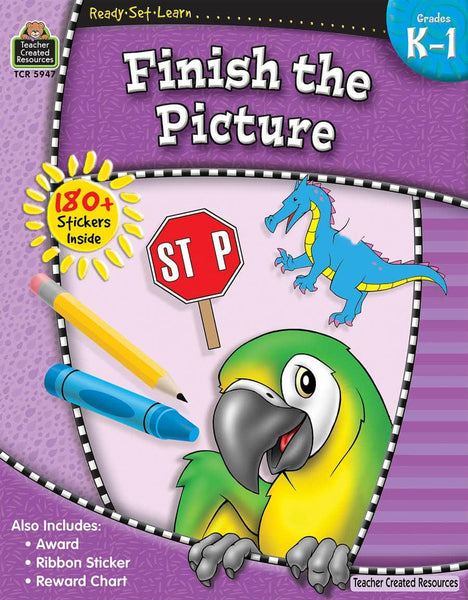 Ready-Set-Learn:  Finish The Picture Kindergarten - Grade 1