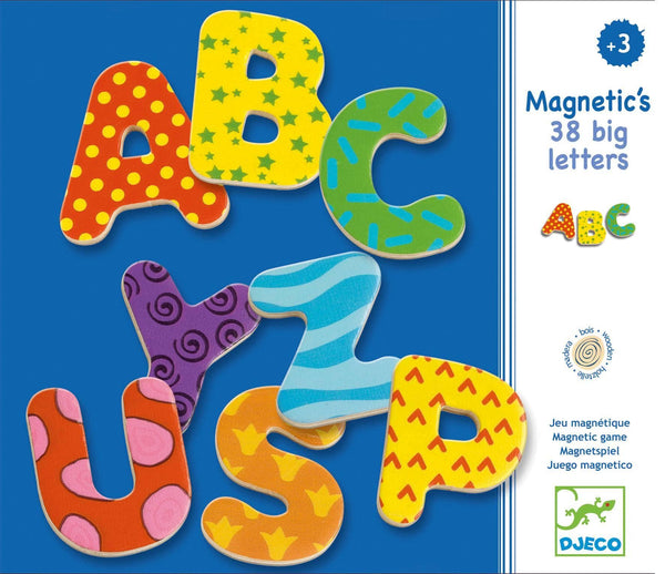 Wooden Magnetic Alphabet 38pc