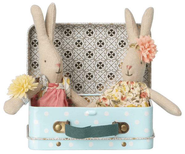 Micro Rabbit With 2 Sets Of Clothes In A Suitcase-Kidding Around NYC