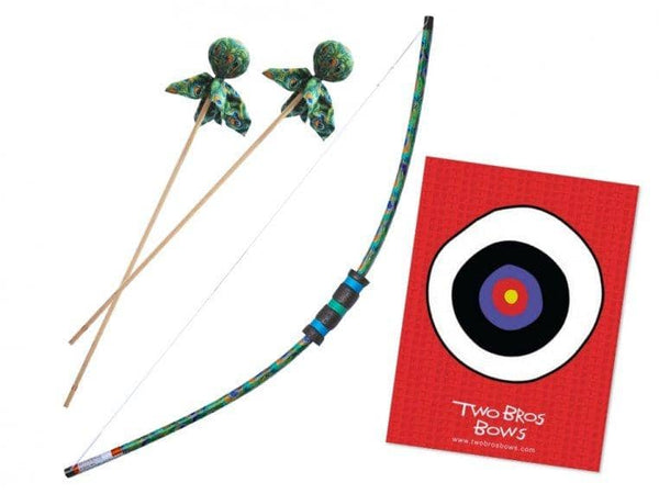 Peacock Bow, Two Arrows and Bullseye