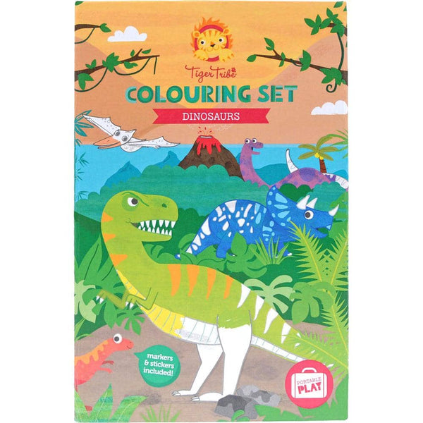 Tiger Tribe Dinosaur Coloring Set-Kidding Around NYC