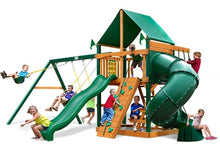 Gorilla Playsets Mountaineer w/Deluxe Green Vinyl Canopy Swing Set