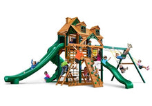 Gorilla Playsets Great Skye 2 w/Malibu Wood Roof Swing Set